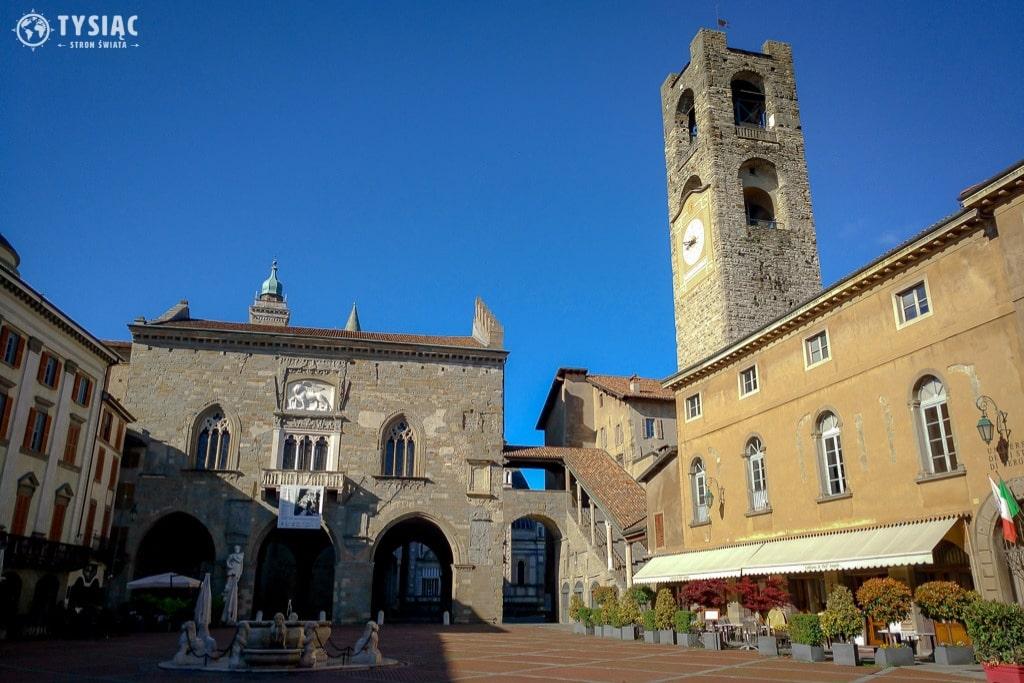 Piazza Vecchia w Bergamo