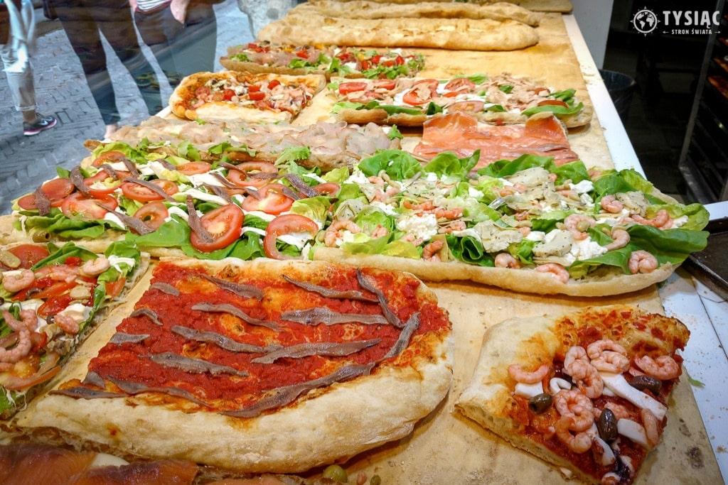 Pizza na kawałki w Bergamo