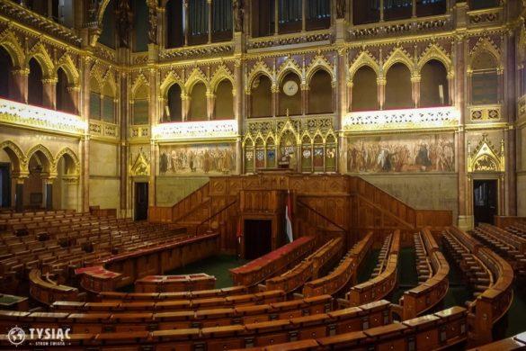 Budapeszt atrakcje - sala obrad w parlamencie