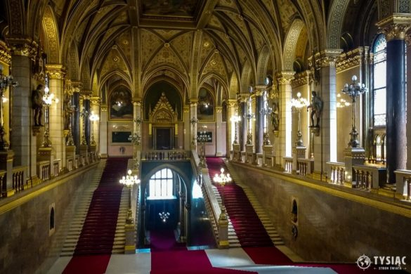 Budapeszt atrakcje - wnętrze parlamentu