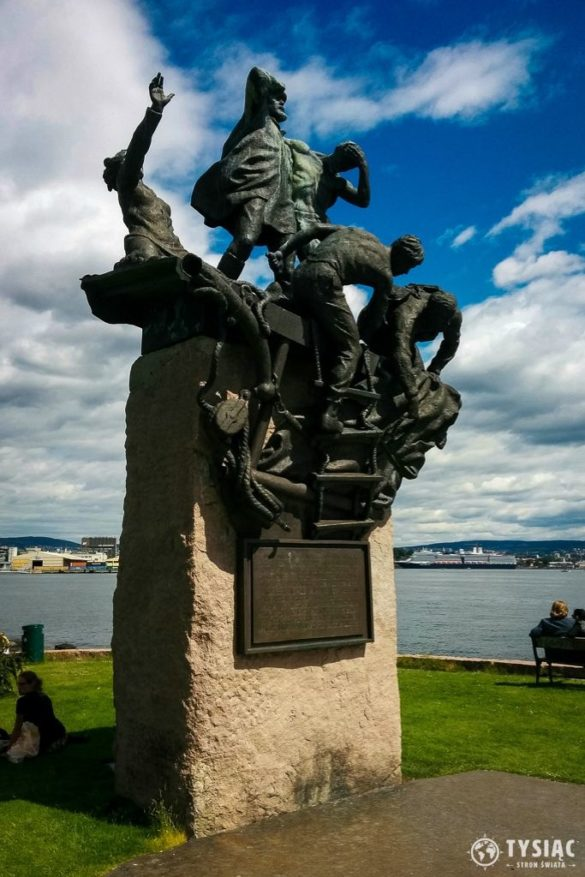 Oslo pomnik na półwyspie
