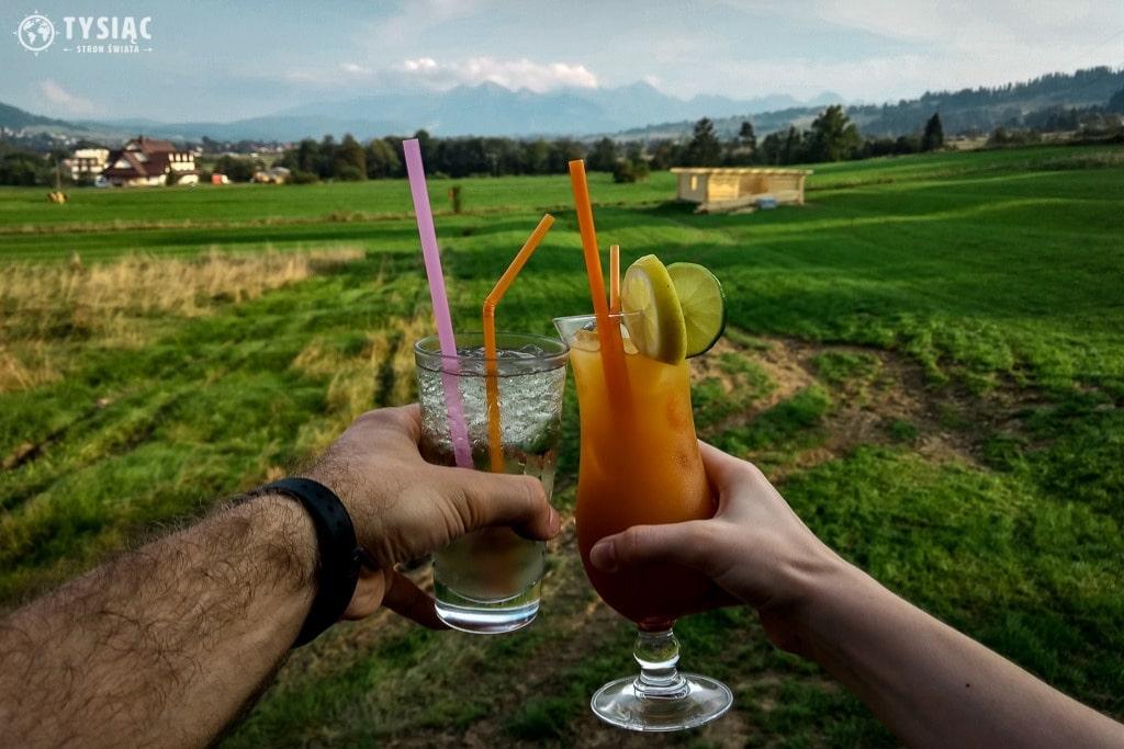 Drink z widokiem na Tatry