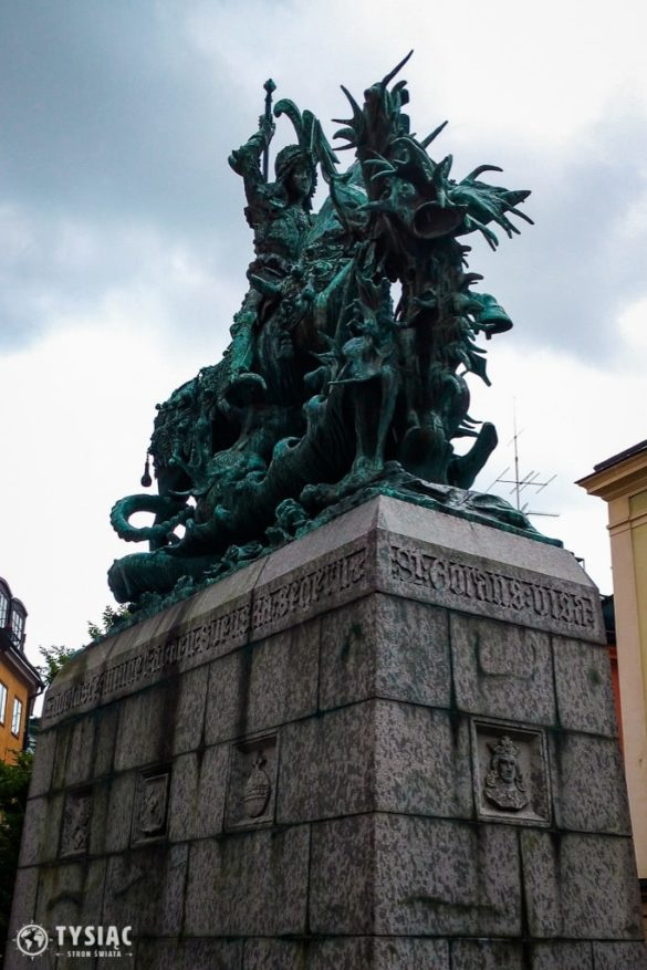 Pomnik św. Jerzego ze smokiem w Sztokholmie