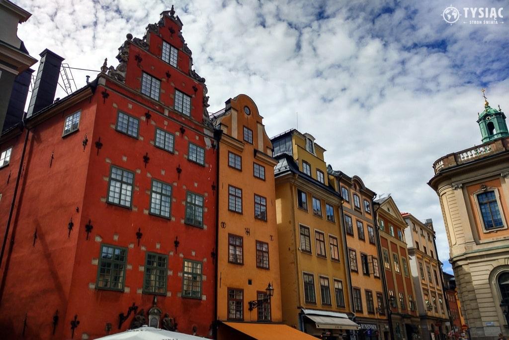 Kolorowe kamienice w Sztokholmie