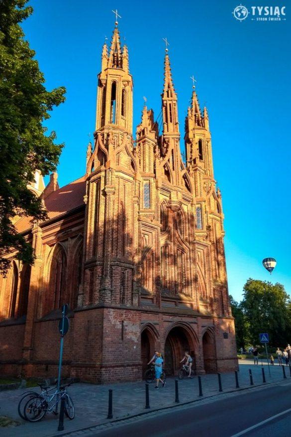 Wilno atrakcje - Kościół św. Anny