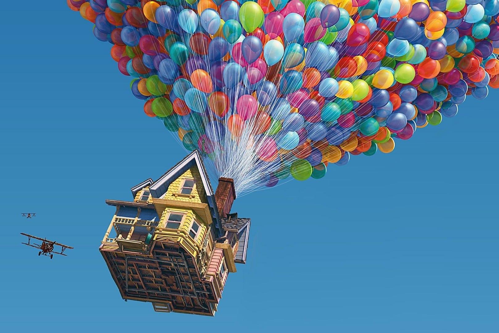 Dom z balonami