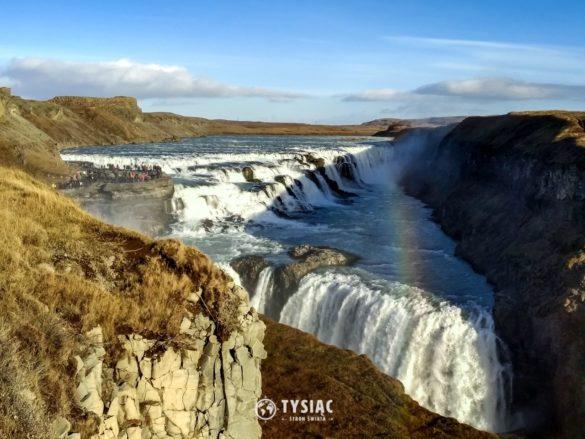 Zwiedzanie Islandii - wodospad Gullfoss