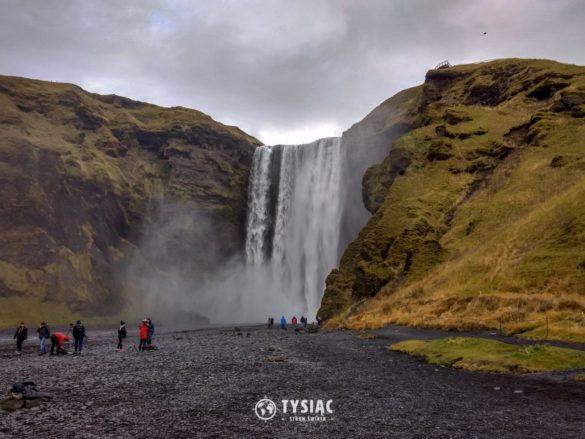 Zwiedzanie Islandii - wodospad Skogafoss