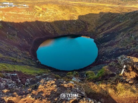 Islandia - jezioro wulkaniczne Kerid