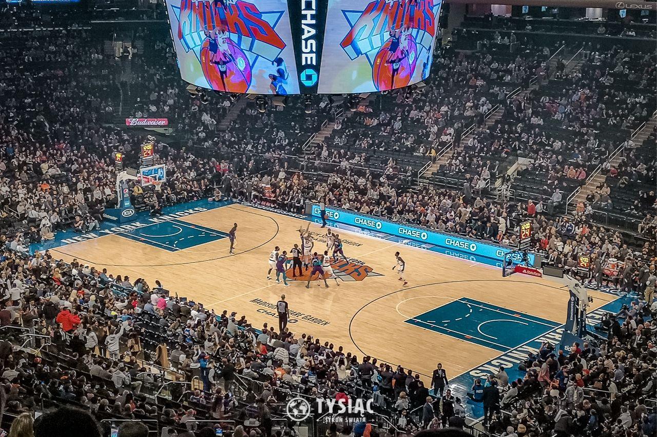Mecz NBA w Nowym Jorku