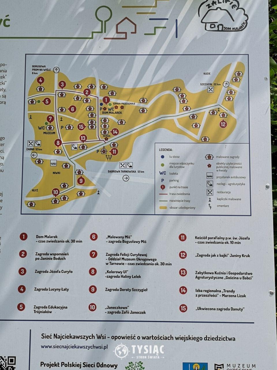 Zalipie - mapa