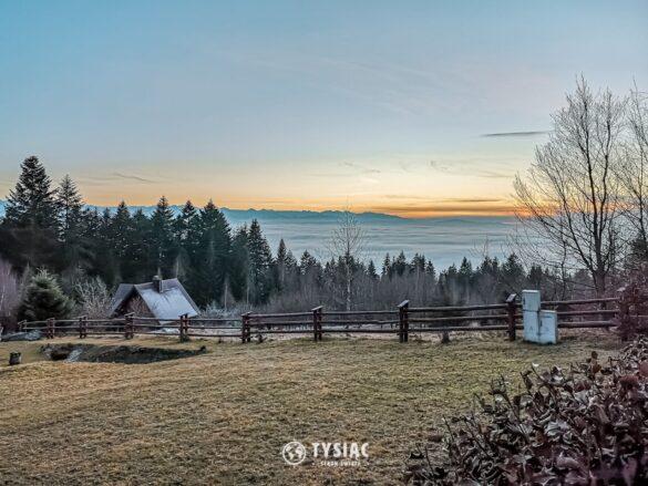 Żółty szlak - widok na Tatry