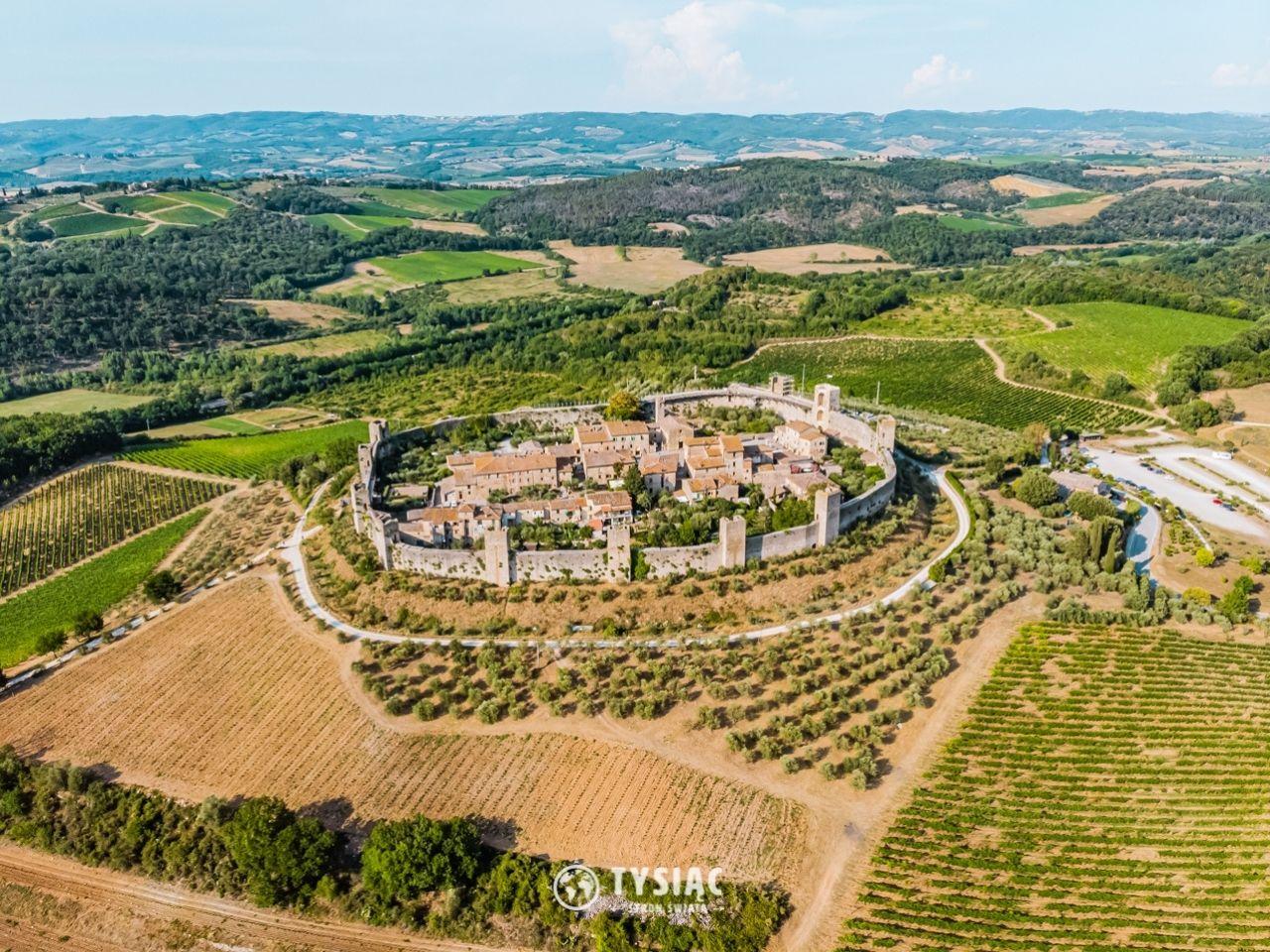 Monteriggioni - zwiedzanie Toskanii