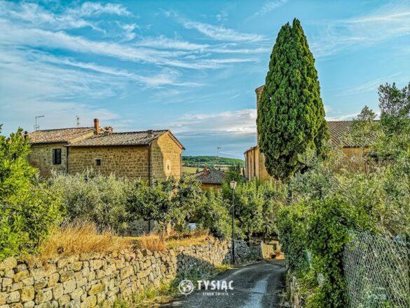 Monticchiello - miasteczka w Toskanii