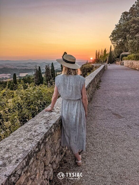 Pienza - zachód słońca - Toskania