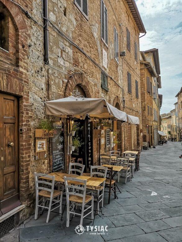 Siena - średniowieczna uliczka