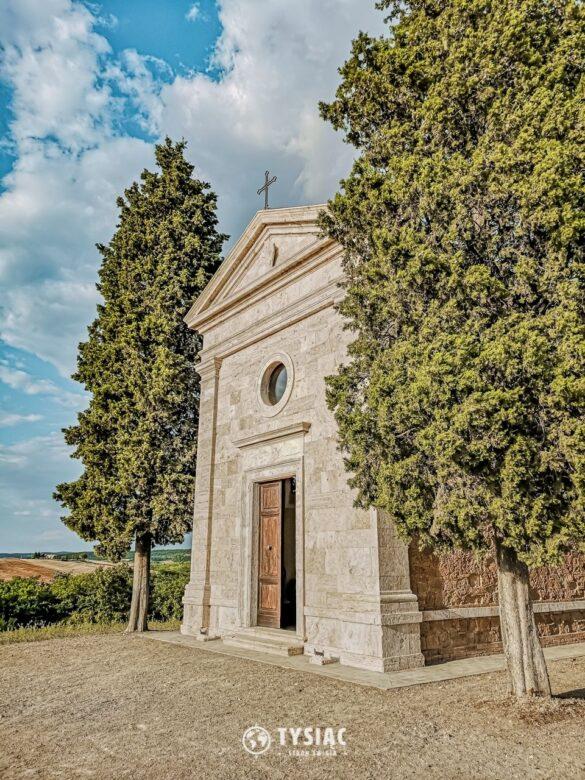 Kaplica Vitaleta - atrakcje Toskanii
